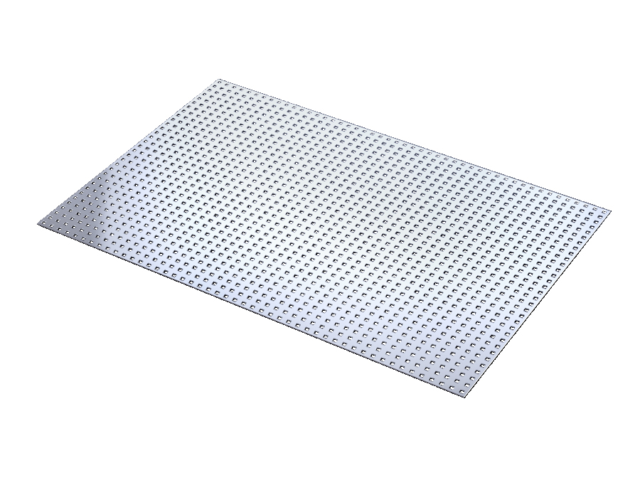 Cover plate perforated