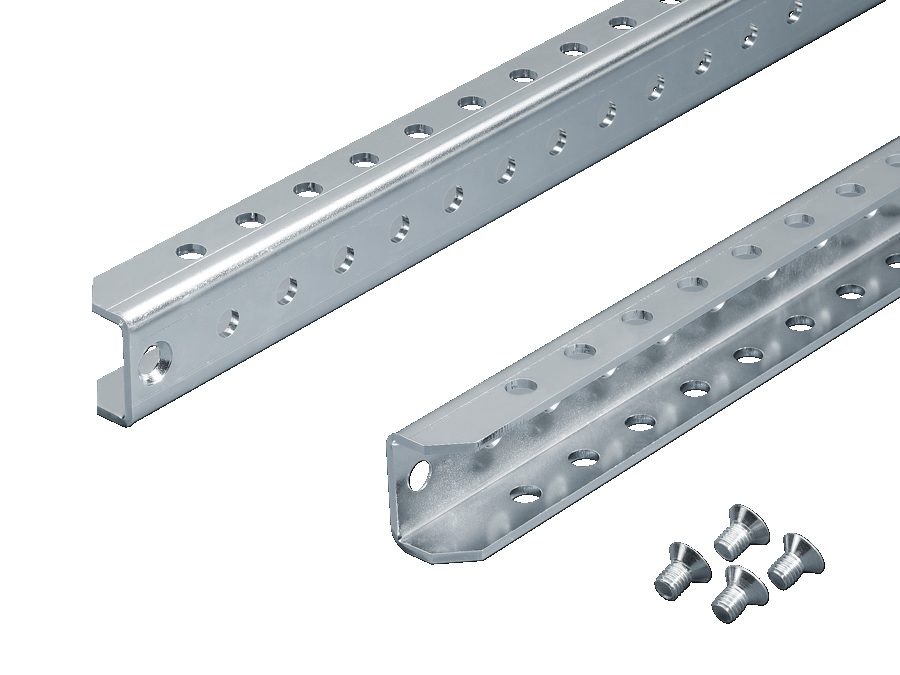 TS Punched rail 25 x 38 mm