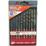 Hex Axis Cobalt HSS Steel Drill Bit Set (10 Pieces Set)