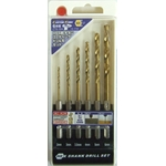 HSS Titanium Seal Coated Drill Blade Set (6 per Set)