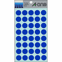 Color Label 15 mm Round Blue