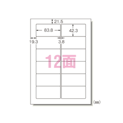 PC and Word Processor Labels General Purpose 20 Sheets (Inch)