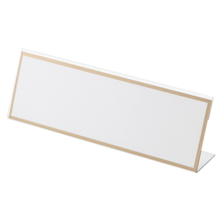 L-Type Card Stand, Recycled PET Outer Dimensions: Width 200 x Height 68 mm