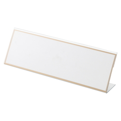 L-Type Card Stand, Recycled PET Outer Dimensions: Width 250 x Height 83 mm