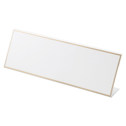 L-Type Card Stand, Recycled PET Outer Dimensions: Width 300 x Height 103 mm