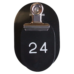 PP Parent/Child Tags, Continuous Numbers 1-50 Black