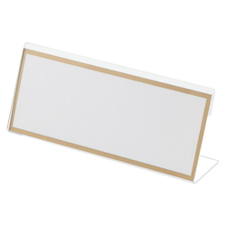 Acrylic Card Stand L Type, Transparent Outer Dimensions: Width 150 x Height 63 mm
