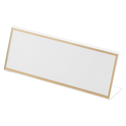 Acrylic Card Stand L Type, Transparent Outer Dimensions: Width 180 x Height 68 mm