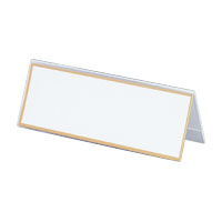 Acrylic Card Stand V Type, Transparent Outer Dimensions: Width 200 x Height 73 mm