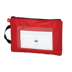 Mail Bag, W Fastener without Gusset, Red Standard: A4 Size, Outer Dimension: Vertical 260 x Horizontal 370 mm