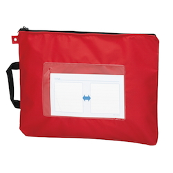 Mail Bag, W Fastener without Gusset, Red Standard: B4 Size, Outer Dimension: Vertical 340 x Horizontal 440 mm