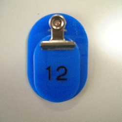 Parent/Child Tags, Continuous Numbers 1-50 Blue