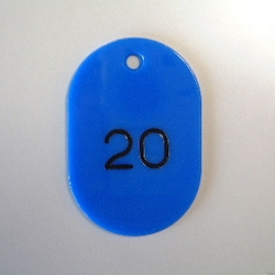Large Number Ticket, Serial 1-50 Blue