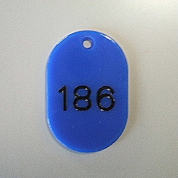Large Number Ticket, Serial 151-200 Blue