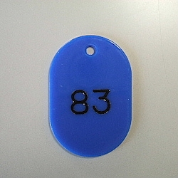 Large Number Ticket, Serial 51-100 Blue