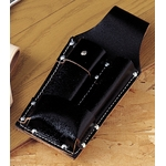 Black Split Leather Pushup Type Hacker Sheath