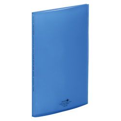Clear Book, Side Vents, Blue