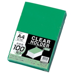 Request Clear Holder, Green