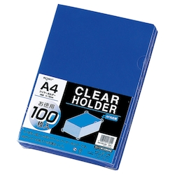 Request Clear Holder, Blue
