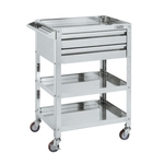 Super Wagon with 2 Drawers (4 Universal Casters)