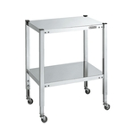 Stainless Steel Height-adjustable Mobile Table, Flat Shelf Board Type