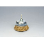 Quick Steel Plated Wire Cup Brush (Yellow Strand)