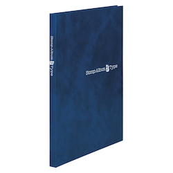 Stamp Album B Type, B5-Sized Vertical, Blue, Standard: 6-Stage SB-30N-02