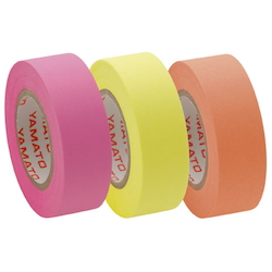 Memoc Roll Tape Fluorescent Colors, Refill, Rose/Lemon/Orange