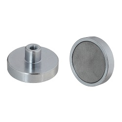 Samarium Cobalt Shallow Pot Magnets / Threaded hole