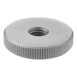 Flat knurled nuts, Stainless Steel