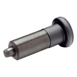 Indexing plungers without thread, Steel / Plastic knob