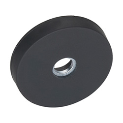 Retaining magnets with bore, with rubber jacket
