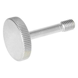Stainless Steel-Knurled screws with recessed stud for loss prevention