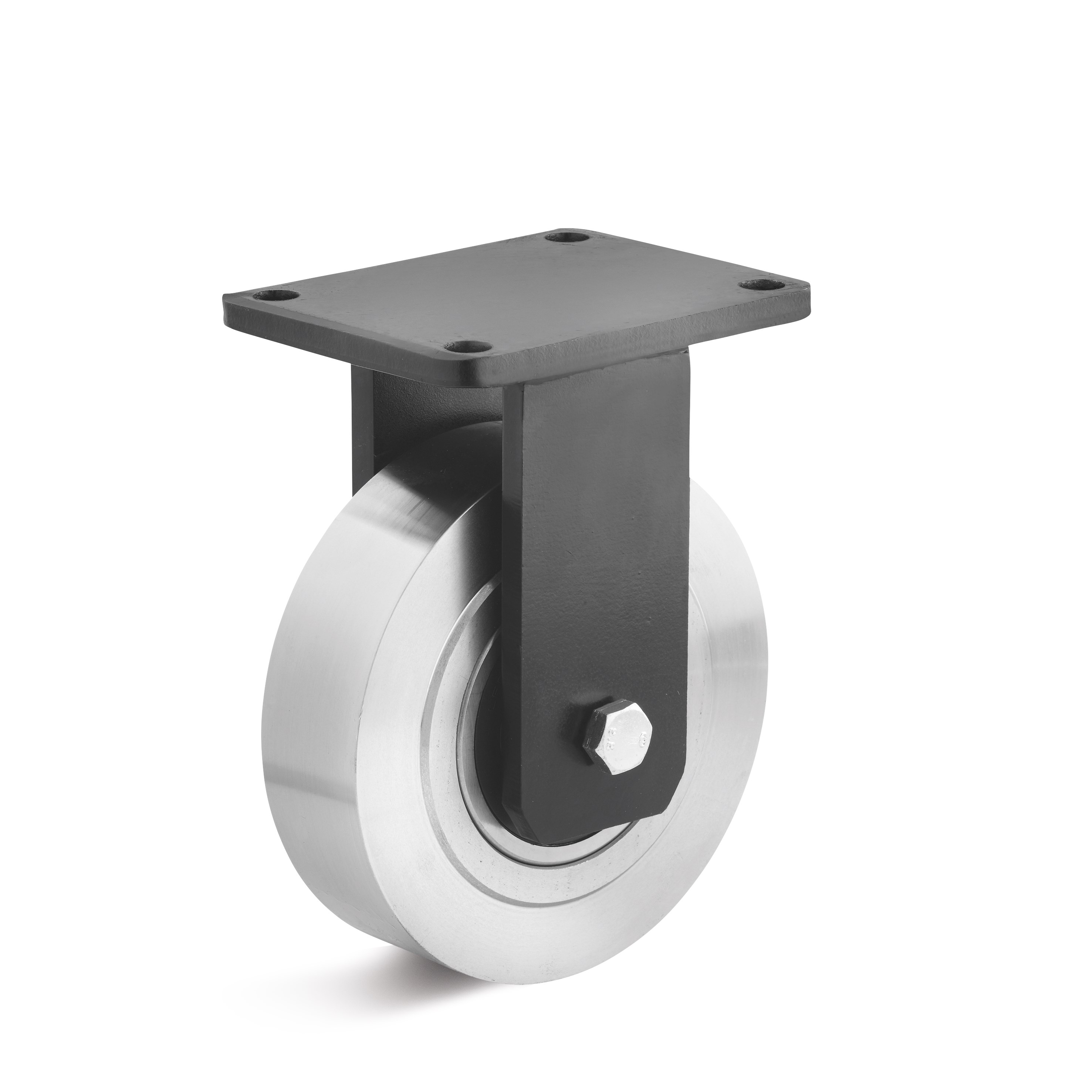 Fixed caster with all-steel wheel