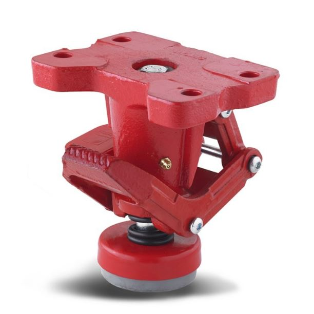 Locking foot for device locking, made of special cast iron