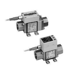 3-Colour Display Digital Flow Switch for Water, PF3W Series