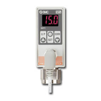 2-Colour Display Digital Pressure Switch for General Fluids, ISE75/75H Series