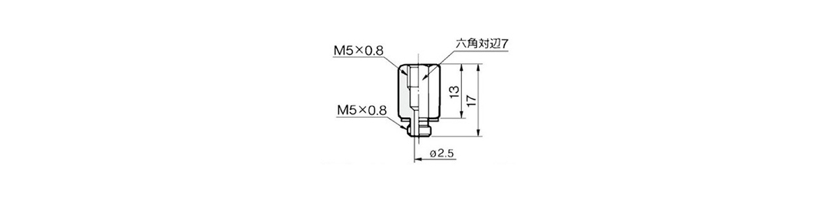 Extension Fitting M-5J outline drawing